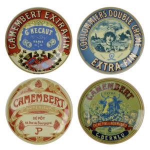 Set of 4 Classic Camembert Plates