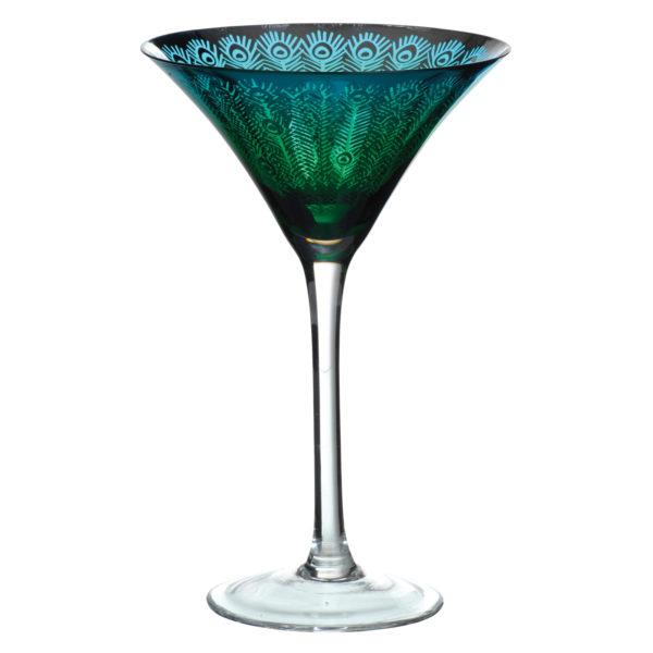 Set of 2 Peacock Martinis