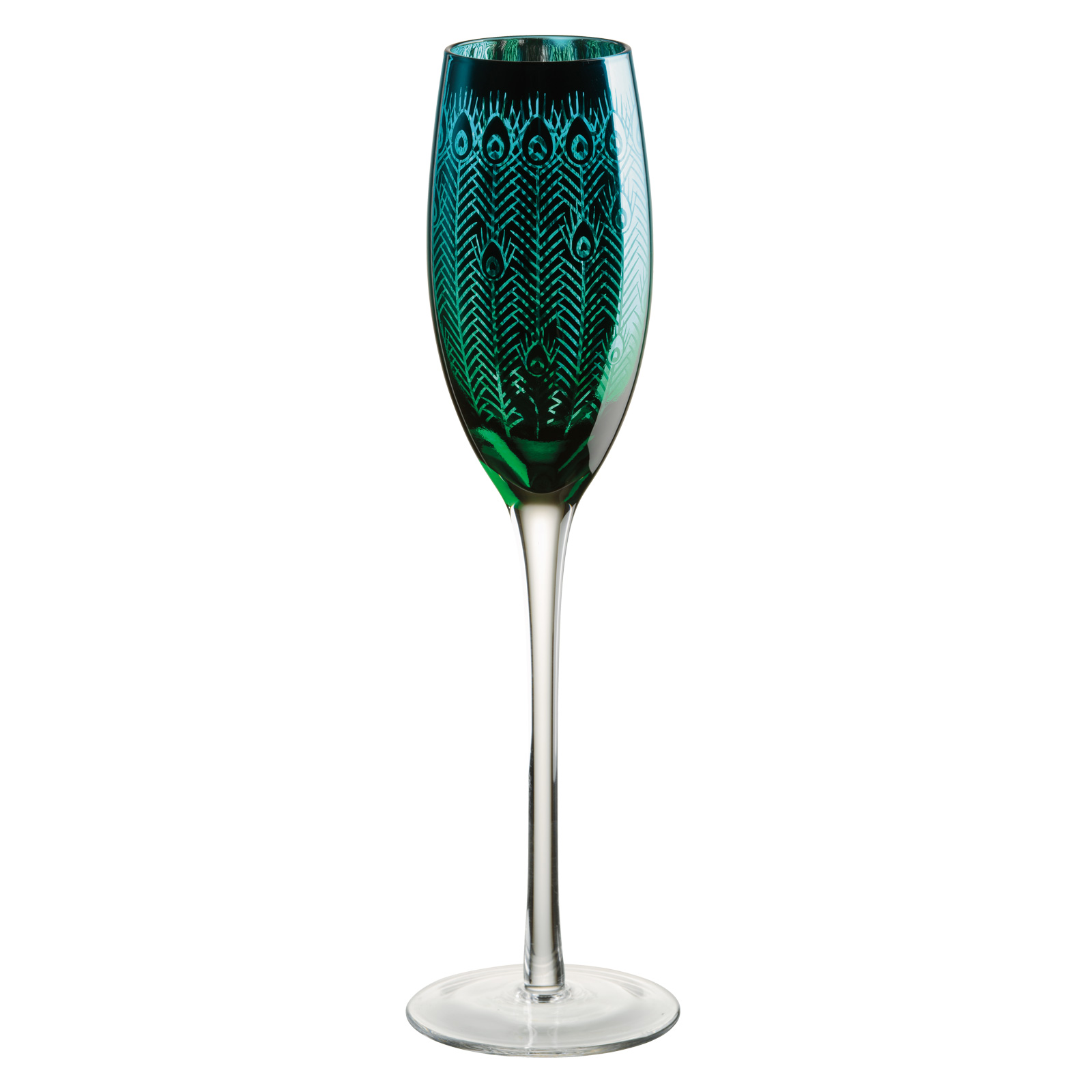 Set of 2 Peacock Flutes