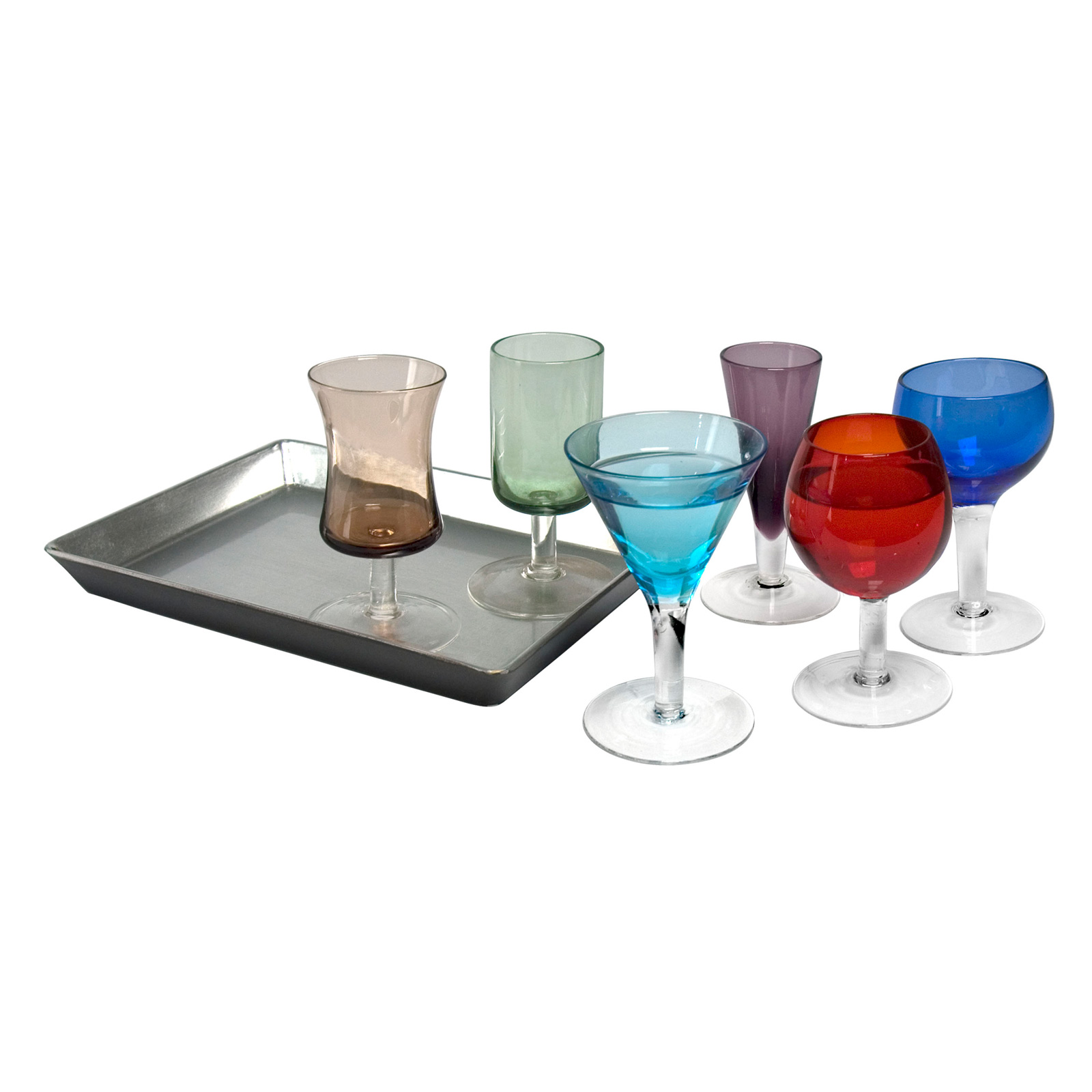 7 Piece Short Stem Liqueur Set
