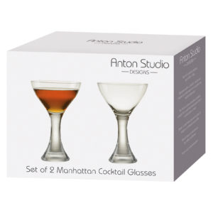 Set of 2 Manhattan Cocktail Glasses