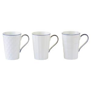 Set of 3 Lux Mugs Blue