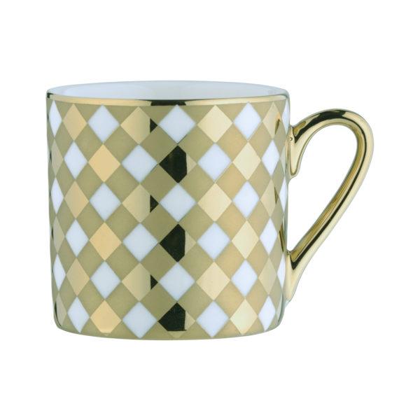 Tartan Espresso Mug Gold