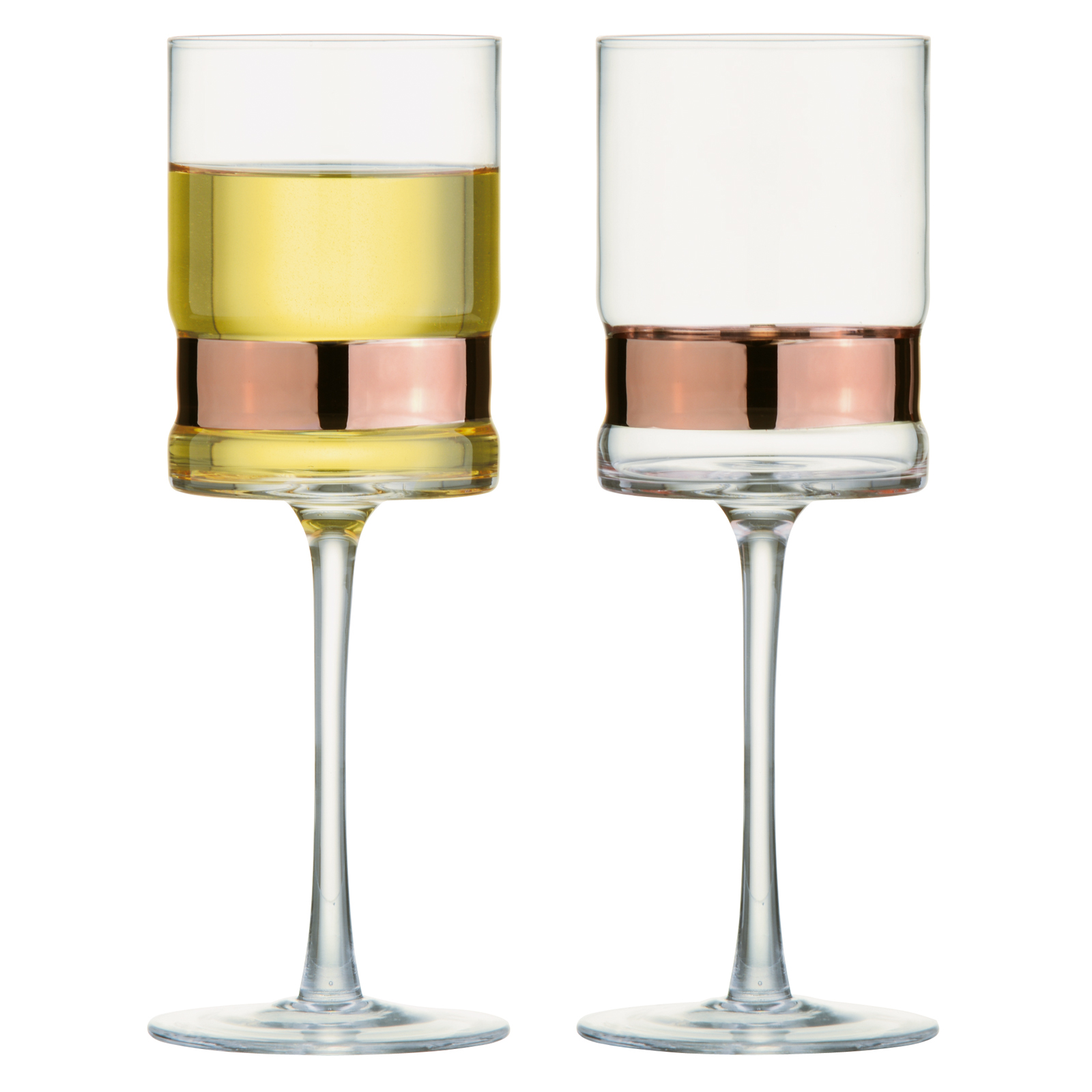 Set of 2 SoHo Wine Glasses Bronze