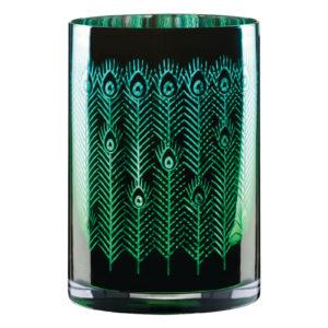 Peacock Hurricane Lamp