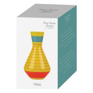 Halo Yellow Vase Wide